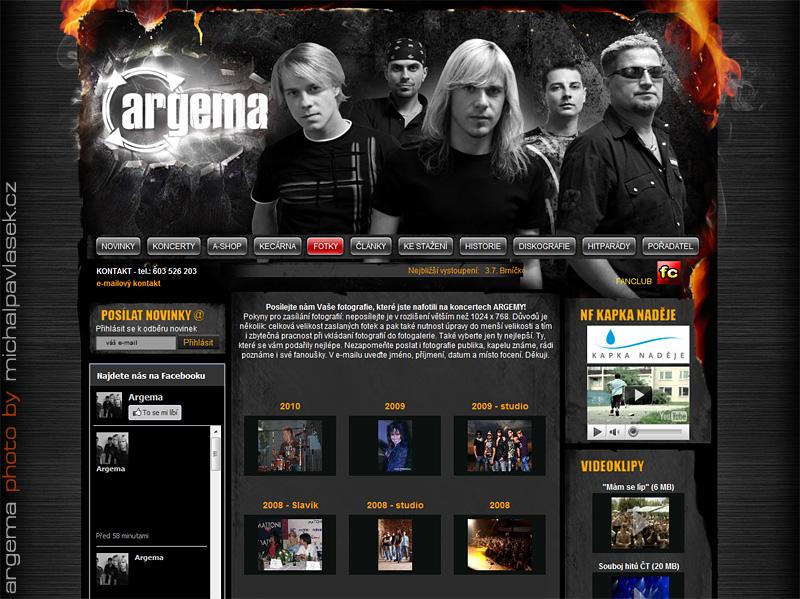 Argema web / Reportážní focení u Michala Pavláska